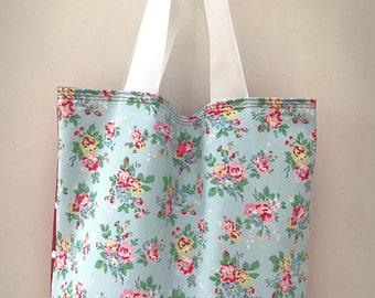 Beautiful Cath Kidston Fabric Handmade Holdall Beach Bag Tote