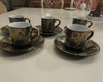 RUSSIA DEMITASSE CUPS and Saucers