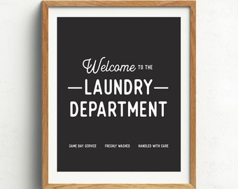 Laundry Room Art, Laundry Print, Modern Laundry Decor, Black and White, Laundry Quote