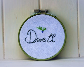 embroidery hoop art dwell