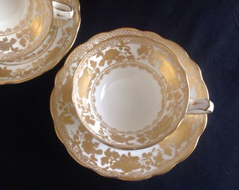 RESERVED FOR TRANG  ***not for sale ****Hammersley  cup and saucer. Heavy gilding . Bone china .