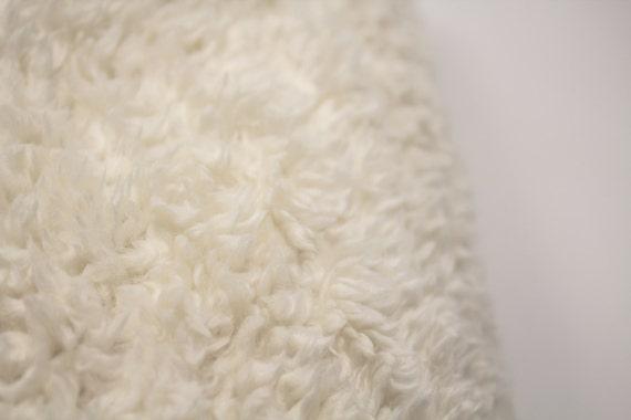 Faux Fur Sherpa Plush Fabric Fur Ivory Sherpa Baby