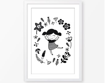 kids black and white poster,nursery poster,monochromatic,nursery decor,kids room decor,baby poster,children wall art,nursery printable art