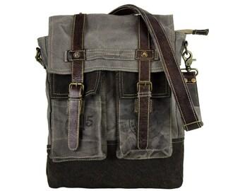 Sunsa Messenger bag cross body shoulder bag jeansbag canvas bag with leather Artno.: 51857
