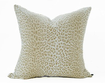 Cheetah pillow cover - Cream and Beige pillow - Leopard pillow - Animal print pillow - Safari pillow - Decorative pillow