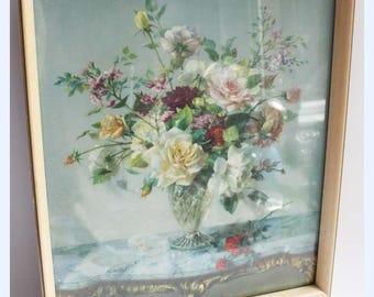 Vintage 60's Vernon Ward Midsummer Glory Framed Glazed Print Tretchikoff Era