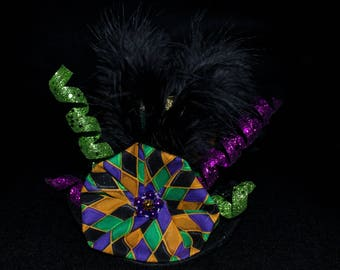 Mardi Gras Mini Top Party Hat