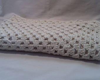 Cream Aran Cotton Blanket