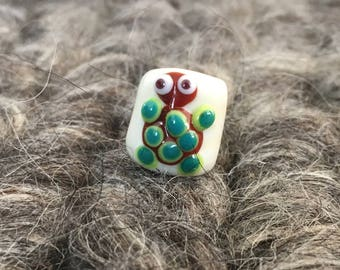 dreadlockbead Ivor glass turtle 5 mm hole