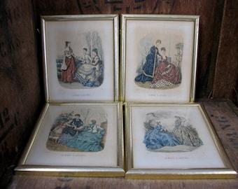 La Mode Illustree Prints, Fashion Prints, Leroy Imp, French Fashion, French Decor, Victorian Ladies, Crinolene Ladies, Fashion Plates