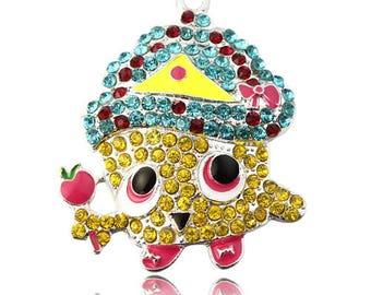 1 x Shopkins Fun Children's Rhinestone Chunky Bubblegum Bead Necklace Pendant