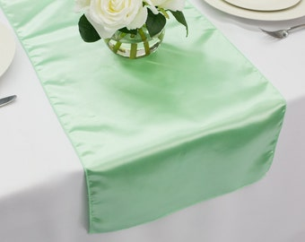 Mint Satin Table Runner | Wedding Table Runners