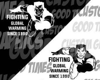 Captain Planet Fighting Global Warming Since 1990 Vinyl Decal