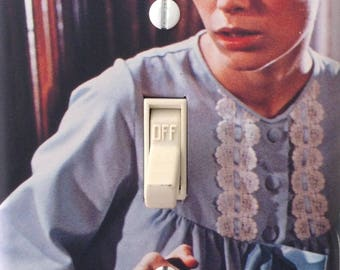 Rosemary's Baby Mia Farrow Vintage Classic Horror Movie Light Switch Cover Mancave Home Theater Den Dorm FREE US SHIPPING