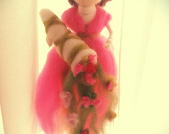 needle felt fairy,wool fairy,waldorf inspired,spring fairy