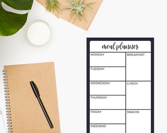 Meal Planner Notepad • Meal Planner • Menu • Purple • Weekly Meal Planner • Meal Planning