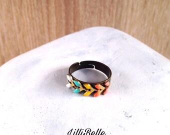 Adjustable ring retro and boho chic - thin, minimalist jewelry