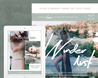 Boho Fashion E-mail Newsletter Template PSD - E-commerce Newsletter Blast Template - E-mail Blast Template - Instant Download
