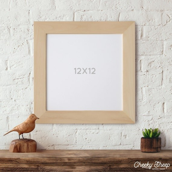 12x12x2 Unfinished Wood Frames Picture Frame Square Frame