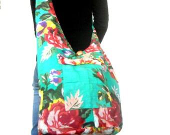 Reversible Sling Bag Boho Bag Hobo Hippie Bag Hippie Bag Crossbody Bag Bohemian Bag Shoulder Bag Messenger Bag Multi Color