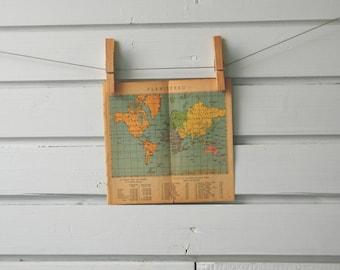 1941 Vintage World Map