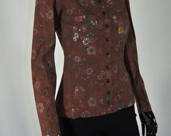 1970s Alley Cat by Betsey Johnson Floral Blouse
