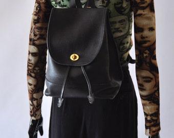 1990s / Black Coach backpack