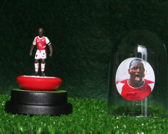 Patrick Vieira (Arsenal)  - Hand-painted Subbuteo figure housed in plastic dome.