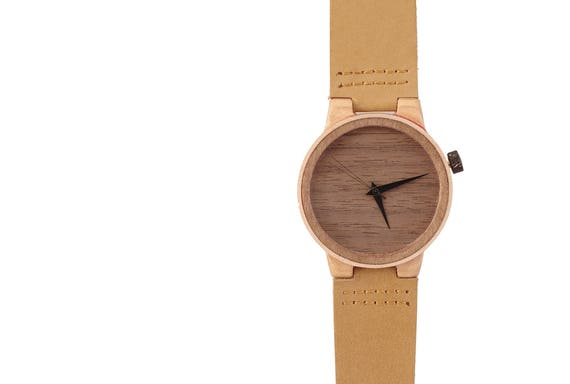 7PLIS watch #28 Recycled SKATEBOARD #madeinfrance yellow brown green wood