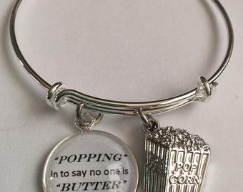 popcorn bracelet- friendship bracelet-friendship cabochon popcorn bracelet