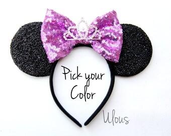Princess Sofia Mickey Ears, Princess Sofia Ears, Princess Sofia Minnie Ears, Princess Sofia Headband, Tiara Minnie Ears, Crown Mickey Ears