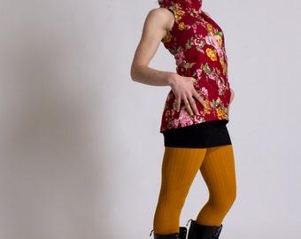YOKO MANOUSH tunic top vintage flower design