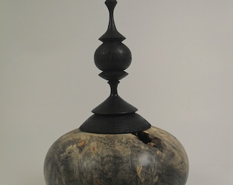 Hollow Form with decorative Finial