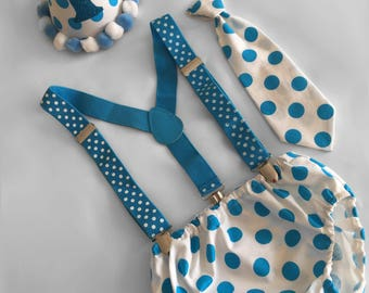 Cake Smash Outfit Boy, Aqua Spots, Baby Boy 1st Birthday Outfit, 1st Birthday dressup, Cake Smash Outfit, Baby photoshoot outfit