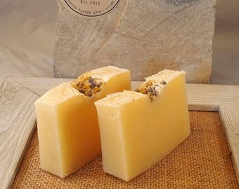 Lavender Chamomile Soap - hot processed soap - lavender soap - chamomile soap