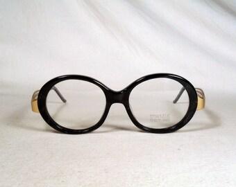 fabulous vintage sunglasses lunettes eyeglasses EMMANUELLE KHANH carved frame france