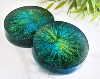 Northern Lights Soap - Astrology Gifts - Aurora Borealis - Gifts For Sister - Romantic Gifts For Her - Green Soap - Blue Galaxy Soap