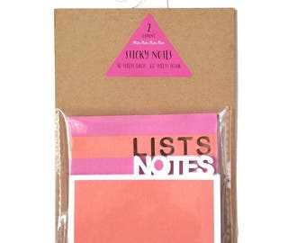 LISTS and NOTES Layered Sticky Notes • Sticky Note Pad • Target Dollar Spot • Target One Spot • Post it • To do list