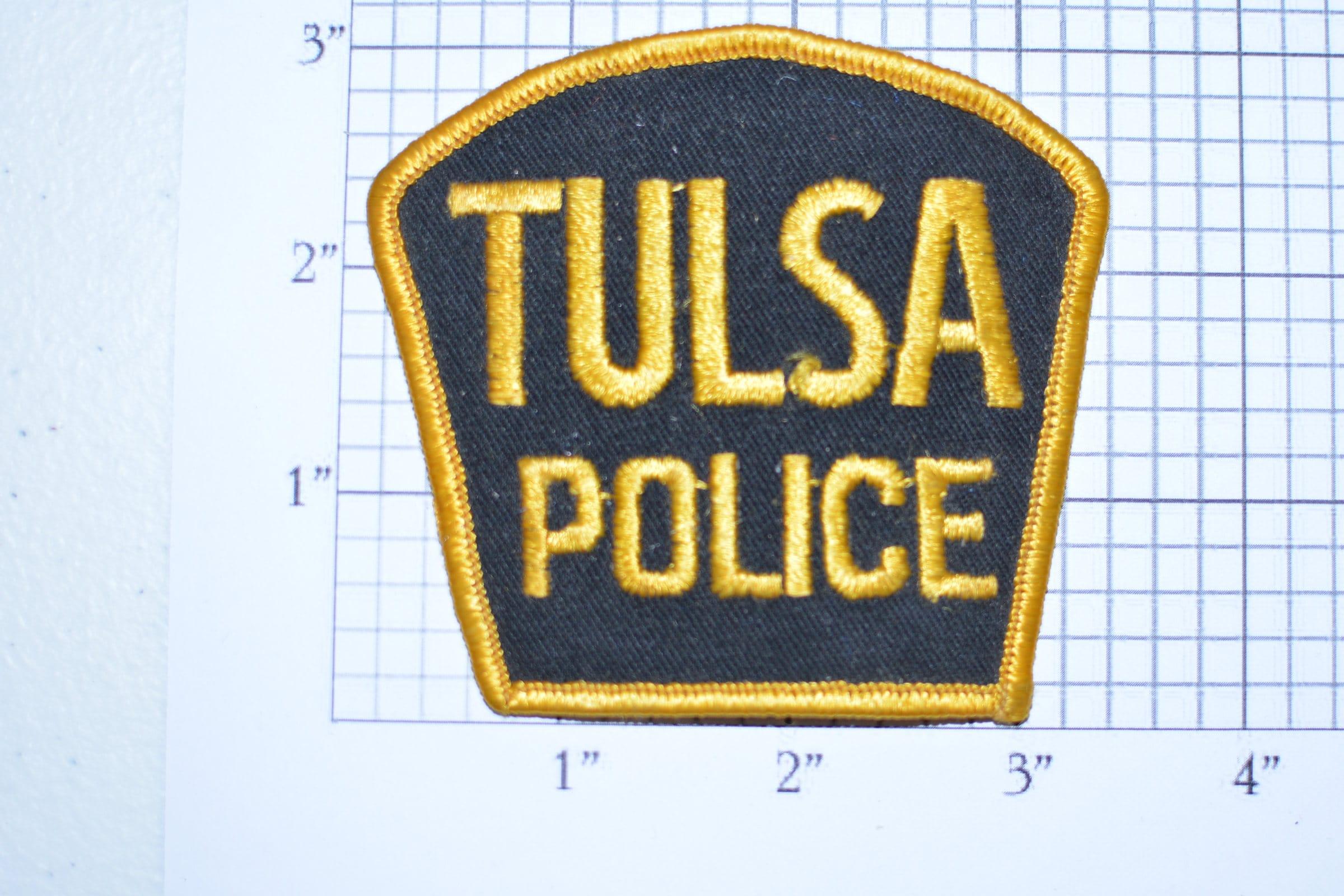Tulsa oklahoma police very rare sew on vintage embroidered