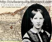 YANKEE DIARY BOM Civil War Quilts Sampler 2017 Blocks 1-4 Paper Patterns by Mail. Barbara Brackman Historical Series