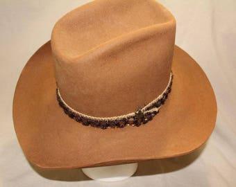 Vintage Brown Biltmore Silver Buckle Fur Felt  Western Hat 4X Quality Size 7 56 cm