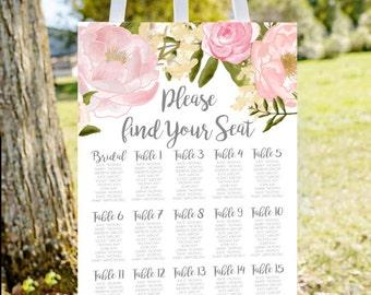 Wedding seating chart, printable seating chart, seating chart sign, find your seat sign, wedding seating charts, engagement seating chart