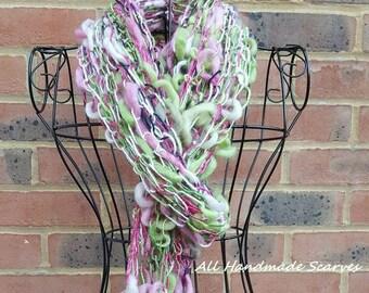 Hand Knit Bamboozle Scarf