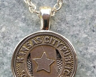 Kansas City Transit Token Pendant Necklace