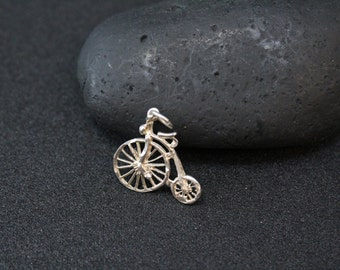 Sterling Silver Vintage Tricycle Charm Pendant