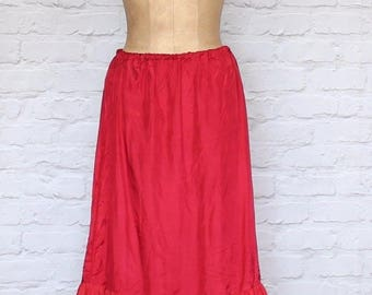 Vintage 80s Underskirt Slip Petticoat Dirndl Hippie Steampunk Costume UK 10/12...US 6/8