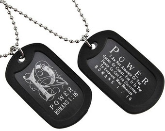 Power - Dog Tag Necklace