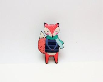 Fox Pin Animals pin Fox brooch Gift Idea