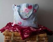 Cath Kidston Antique Rose Blue Fabric Cotton Tote  Book Bag