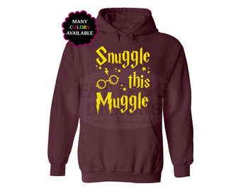 Harry Potter Snuggle This Muggle Custom Hoodie with Front Pocket (S-5XL)